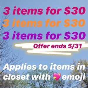 Other - 3 items for $30